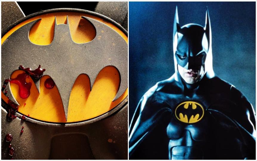 Logo del Batman de Michael Keaton en película de The Flash vuelve locos a fans de DC