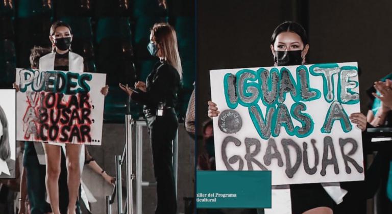 """""""Puedes violar, igual te vas a graduar"""", alumnas del TEC protestan en plan graduación"""