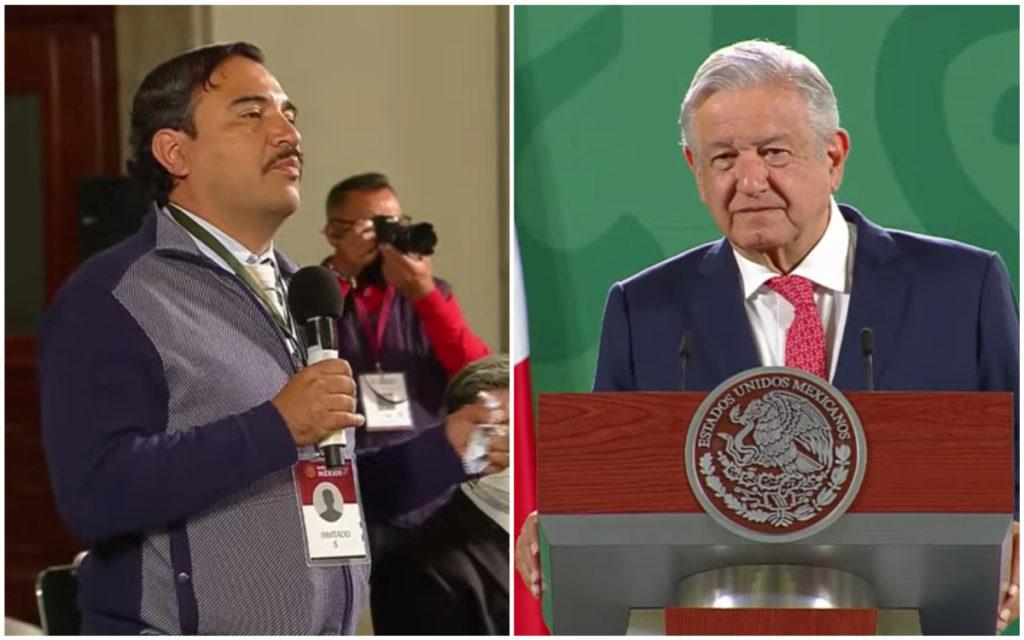 """Reportero pide a AMLO construir Disneylandia de la """"gran Tenochtitlán"""" en NAIM (VIDEO)"""