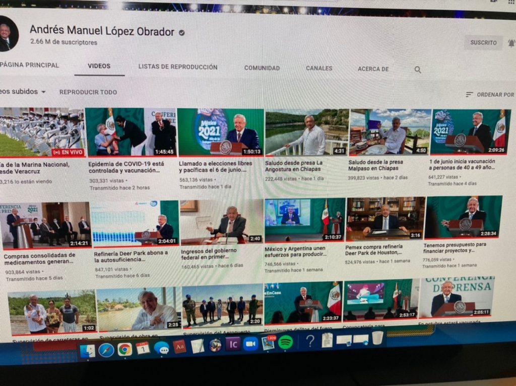 Cepropie baja de YouTube conferencias mañaneras de AMLO por difundir propaganda