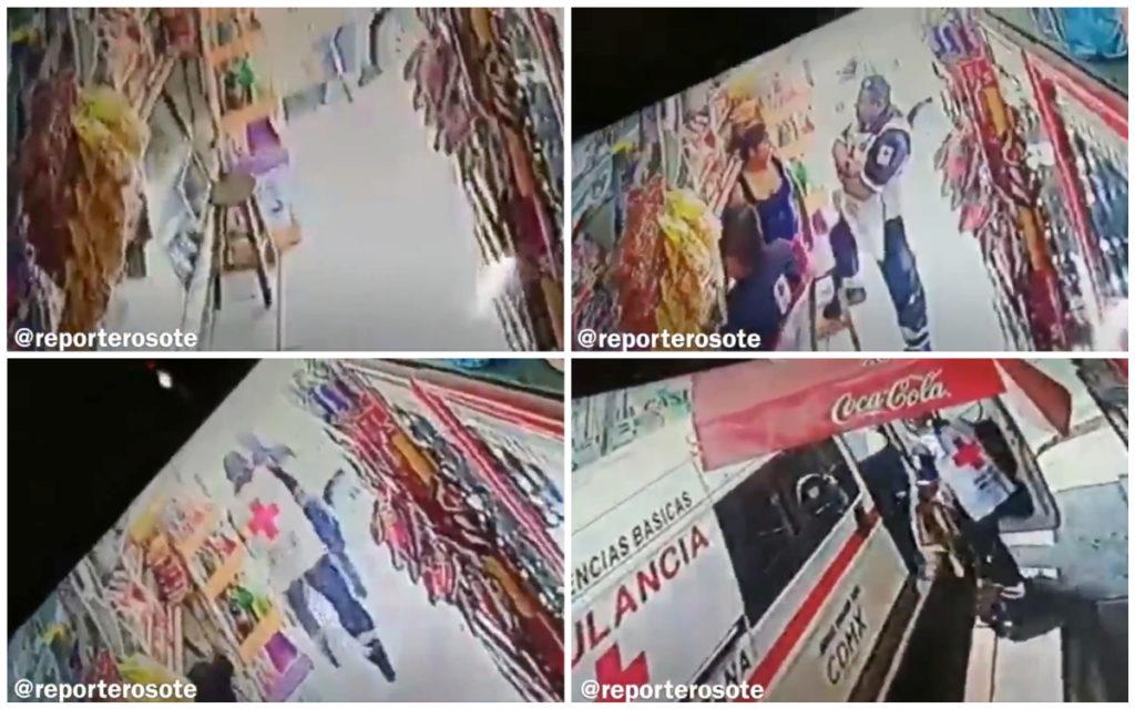 """""""Aguas con la rata de Cruz Roja"""", presuntos paramédicos se roban banco de tiendita (VIDEO)"""