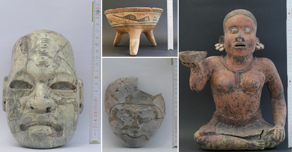 A través de la Embajada de México en Alemania, ciudadanos de aquel país devolvieron, de manera voluntaria, 34 piezas arqueológicas
