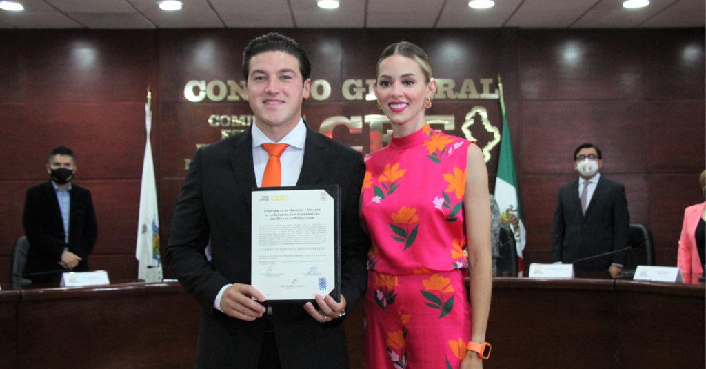 Samuel García recibió ayer la constancia de mayoría, sin presentar gabinete.