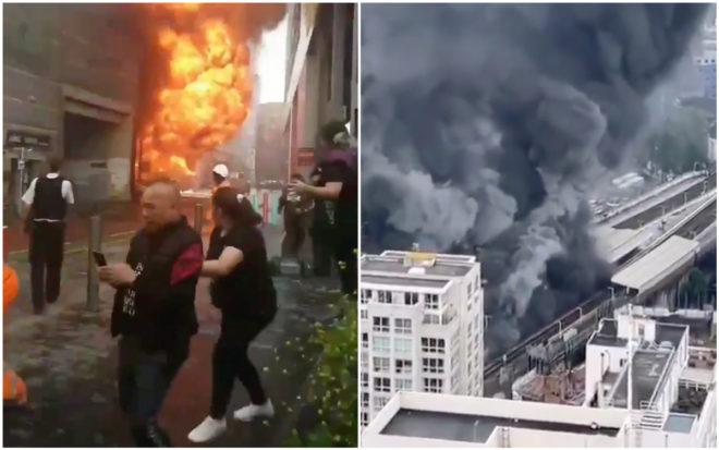 VIDEO: se registra fuerte incendio y explosión en estación del metro de Londres