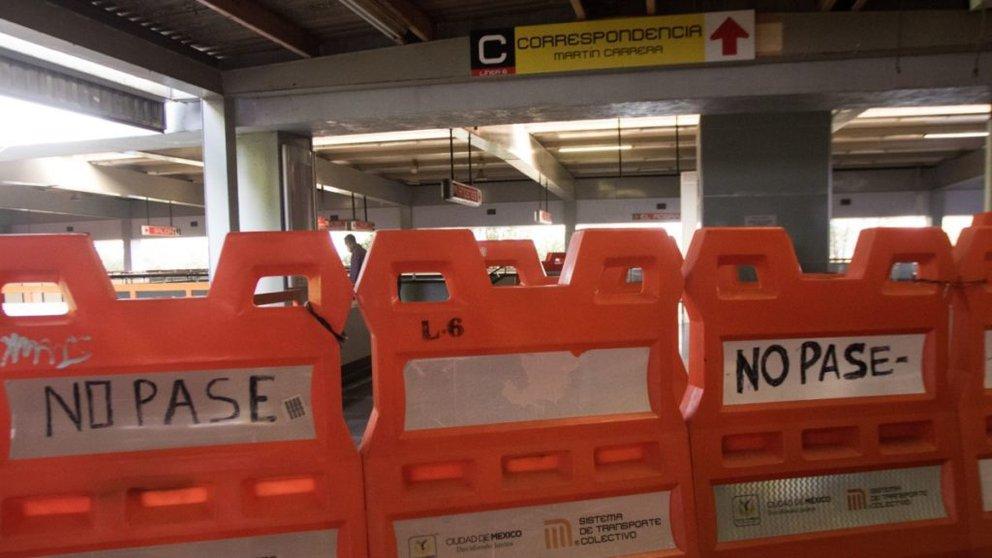 Cierran estaciones de la Línea 6 del Metro por fuerte lluvias y aguas en instalaciones