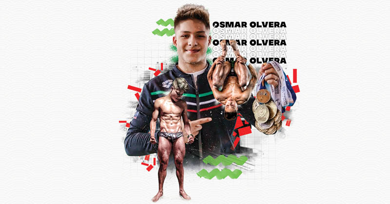 Osmar Olvera se destaca entre los jóvenes clavadistas