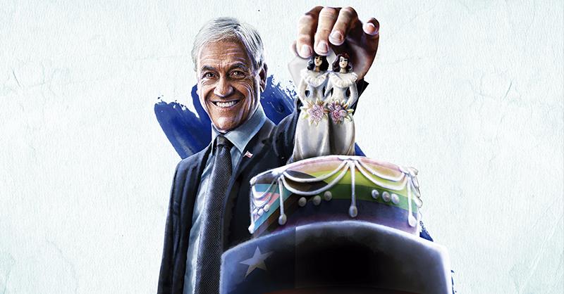 Sebastián Piñera, apoyó autorizar el matrimonio entre personas del mismo sexo
