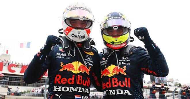 """La parrilla """"sándwich"""" con los Red Bull de Max Verstappen arrancando en la Pole y """"nuestro"""" """"Checo"""" Pérez en el cuarto sitio"""