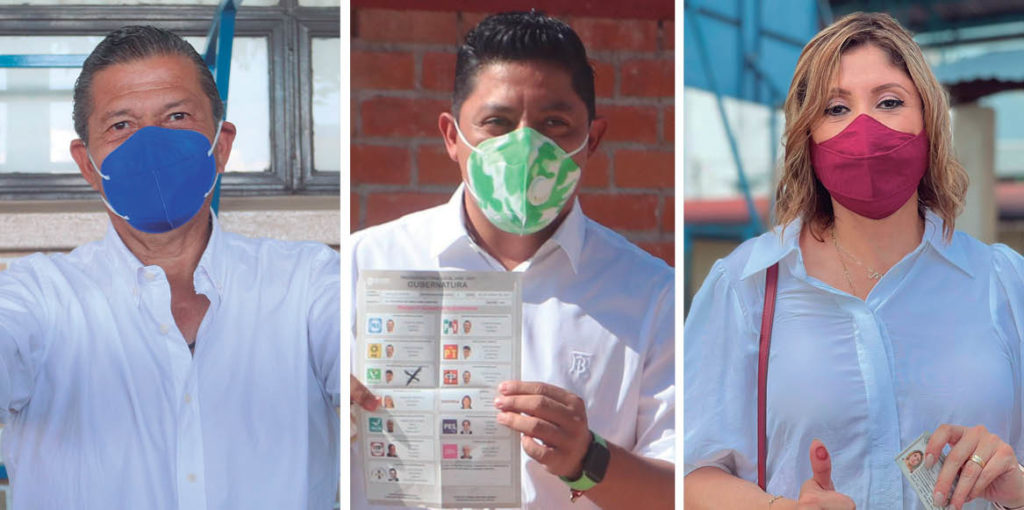 Tres candidatos a la gubernatura de San Luis Potosí se proclamaron vencedores