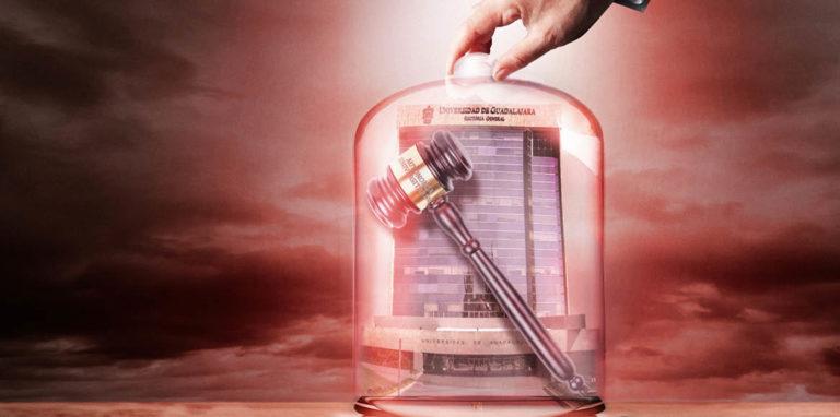 la Universidad de Guadalajara (UdeG) se niega a que los casos graves de corrupción que se dan en su interior sean analizados