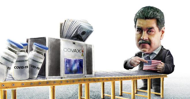 Ante la falta de vacunas contra el COVID-19 que Venezuela ha recibido a través de COVAX, Nicolás Maduro ha señalado a EU como responsable