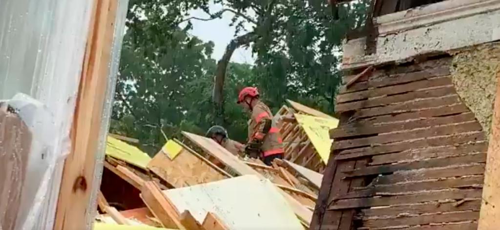 Otro edificio se desploma en EU: esta vez en Washington, cerca del Capitolio (VIDEO)