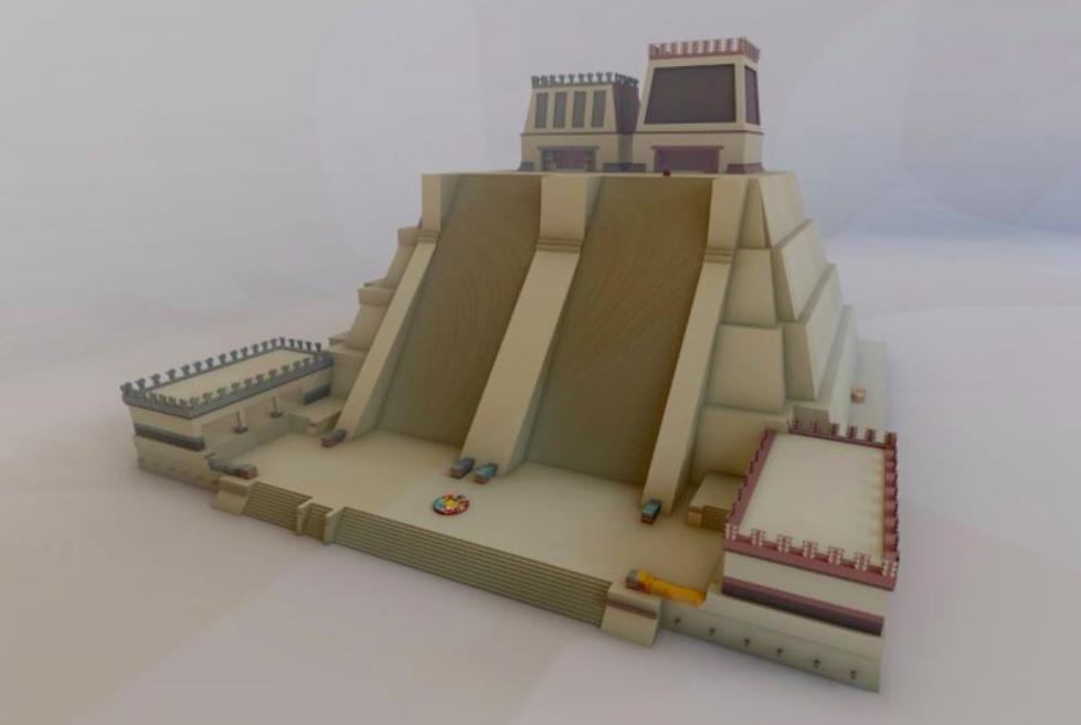 Así será la maqueta del Templo Mayor en el Zócalo por los 500 años de la Conquista