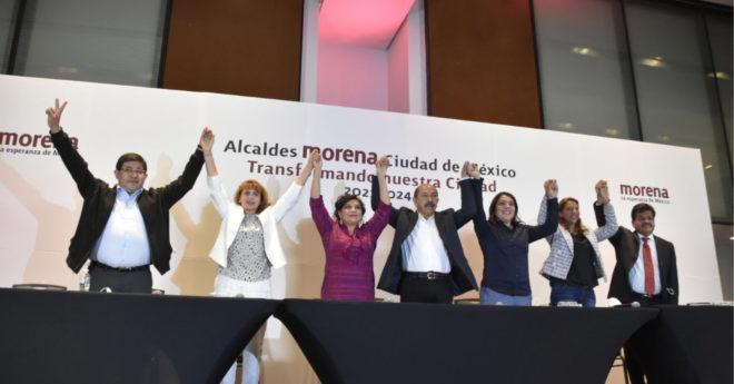 los siete alcaldes de Morena electos en los comicios pasados dieron un mensaje de unidad