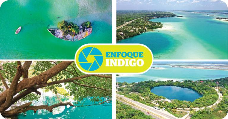 La laguna de Bacalar ubicada en Chetumal, Quintana Roo, es famosa por sus tonalidades turquesa
