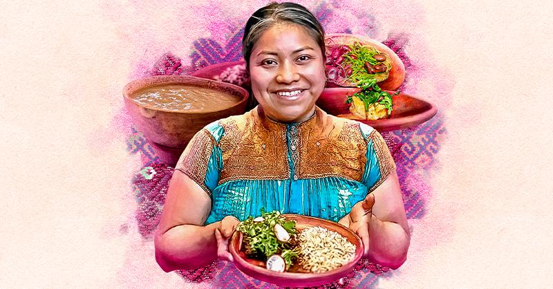 La chef tzotzil de 33 años Claudia Albertina Ruiz Santíz promueve la cultura indígena en su restaurante
