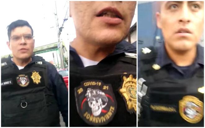Policías someten y detienen a joven que les reclamó haber tirado basura en la calle (VIDEO)