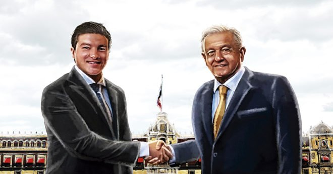 El gobernador electo de Nuevo León, Samuel García, acudió a Palacio Nacional con el presidente Andrés Manuel López Obrador