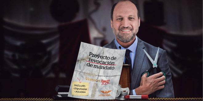 Horacio Tijerina solicitó dictaminar la revocación de mandato pero ahora que MC está en el Poder Ejecutivo ha pedido modificar la reforma