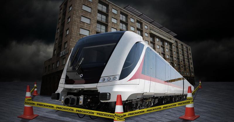 La SCT del Gobierno de México ha tenido que deslindarse de los daños que presentan dos inmuebles por la construcción de la Línea 3 del Tren Ligero