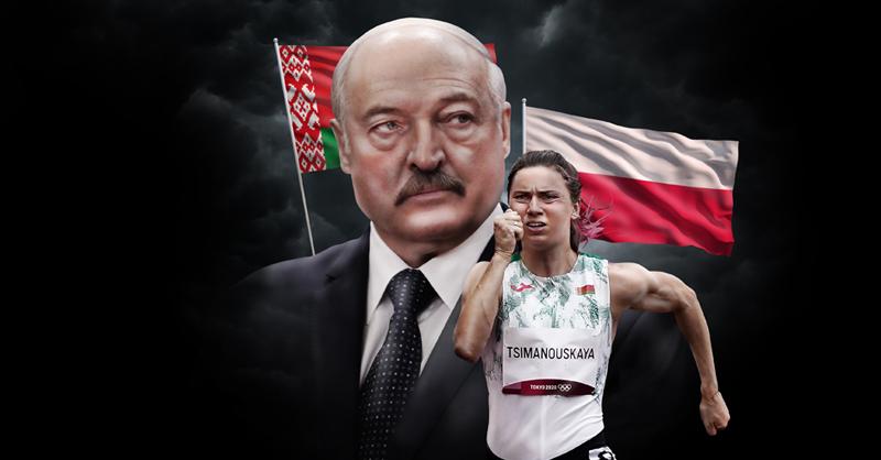 La velocista Krystsina Tsimanouskaya, a quien se le intentó sacar de Japón por hablar en contra los representantes