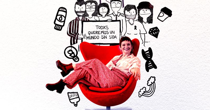 Flori Vidonna realizó ocho murales en las paredes de la sede de AHF México con el objetivo de hacerle frente a esta pandemia con los pacientes de VIH