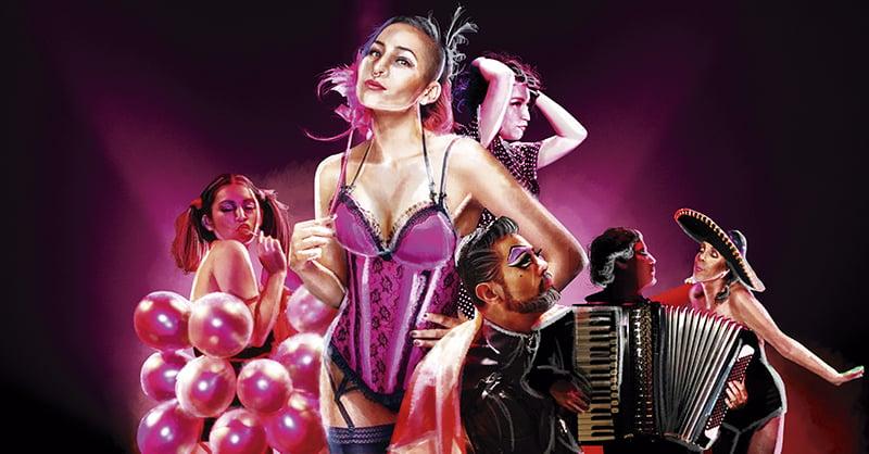 Usando el burlesque como arma de feminidad, las bailarinas cuentan todo sobre los colores del amor, desde lo virginal, hasta lo perverso.