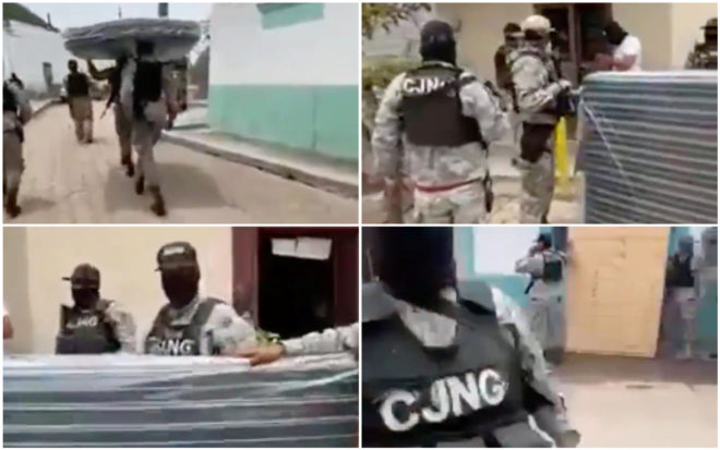 ¡Arriba papá Mencho! CJNG regala camas y despensas a gente pobre en Jalisco (VIDEO)