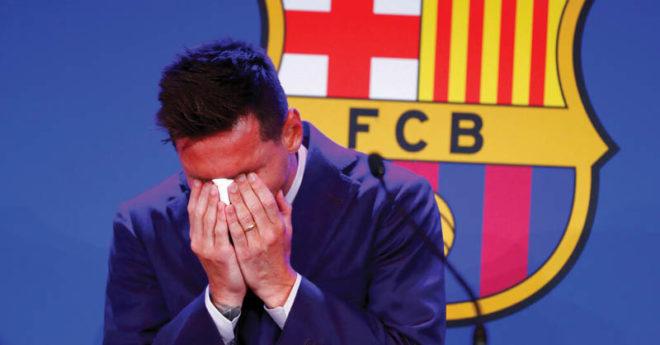 Cada una de las lágrimas derramadas por Messi en su conferencia de despedida