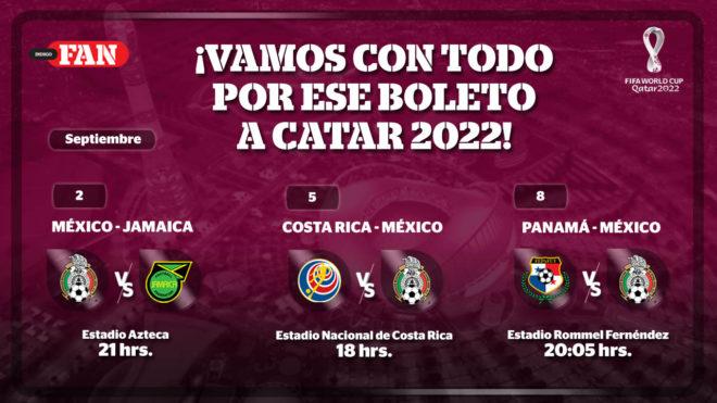 Calendario selección Mexicana