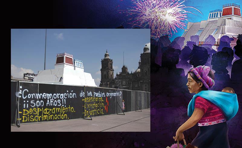 La construcción de la maqueta monumental del Huey Teocalli en la Plancha del Centro Histórico fomenta una versión de la historia equivocada
