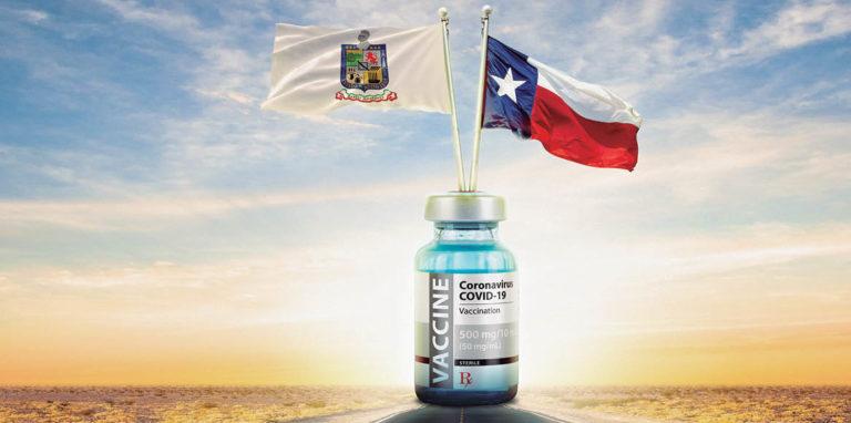 Hoy miércoles comienza el Programa Piloto de Vacunación Transfronteriza en Laredo, Texas que gestionó el gobernador electo, Samuel García