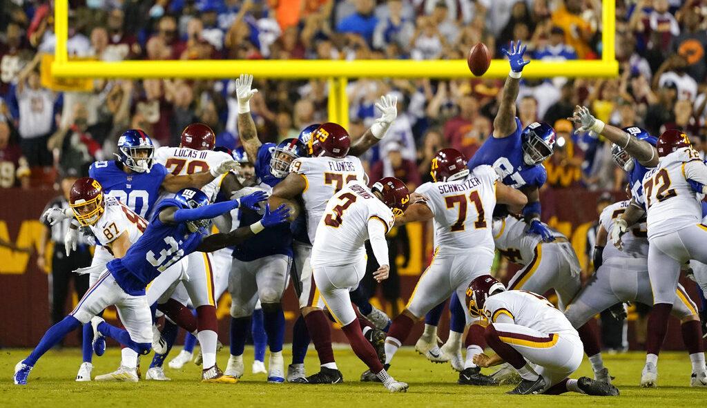 Dramático triunfo de Washington ante Giants