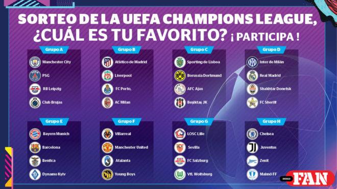 Estos son los 32 equipos que buscarán ganar la Champions League.