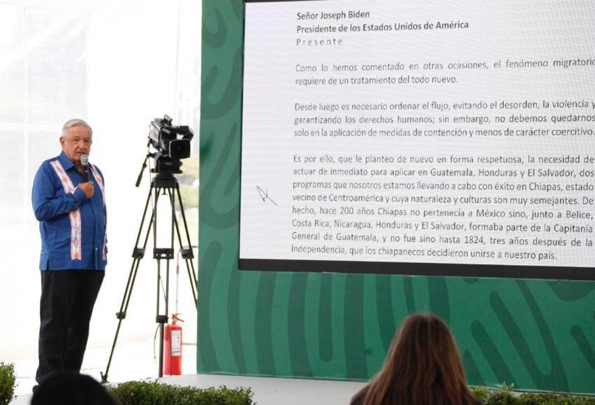 AMLO revela carta que envió a Biden; insiste en replicar programas de la 4T en Centroamérica