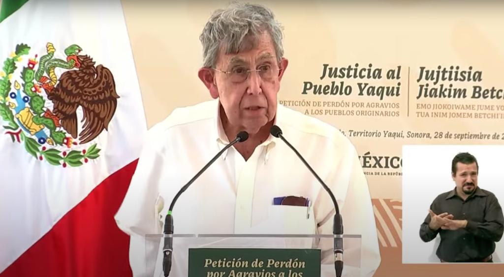 Así fue la intervención de Cuauhtémoc Cárdenas en acto de perdón al pueblo yaqui de AMLO