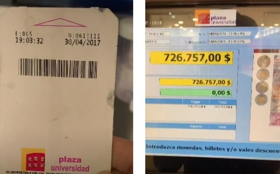 ¡Más de 700 mil pesos! Intenta pagar boleto de estacionamiento de 2017 y se hace viral en TikTok