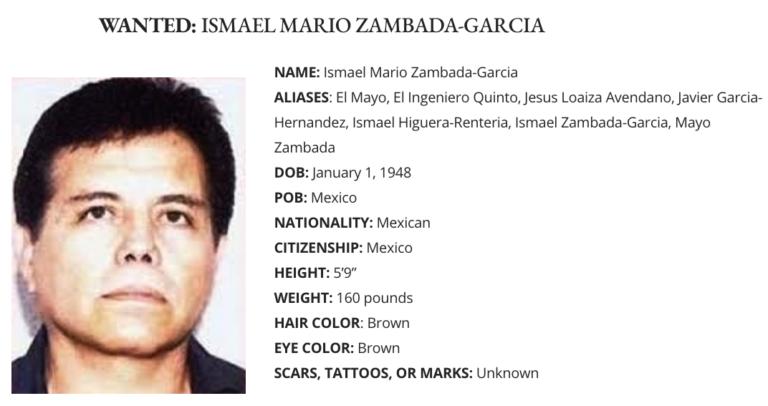 """EU ofrece 15 millones de dólares por """"El Mayo"""" Zambada y deja atrás al """"Mencho"""" en recompensa"""