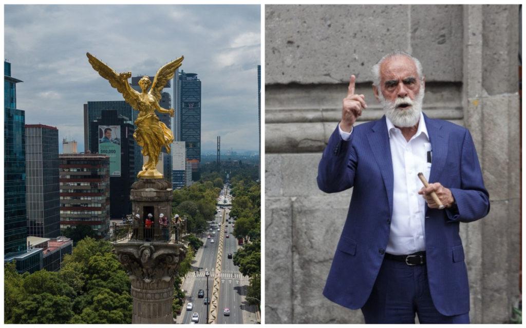 """Fernández de Cevallos propone cortar cabeza del Ángel y soldarle la de Huitzilopochtli; que """"mañaneras"""" sean en Teotihuacán"""