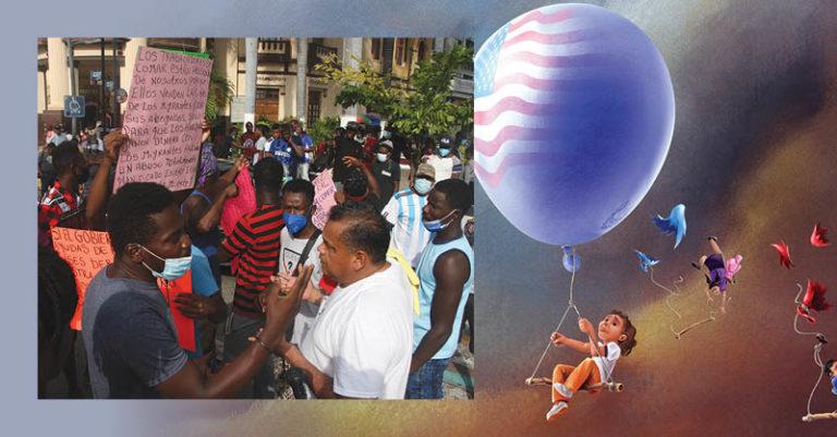 La comunidad de haitianos pide al Estado mexicano el derecho al libre tránsito en territorio nacional y que se canalicen sus solicitudes de asilo
