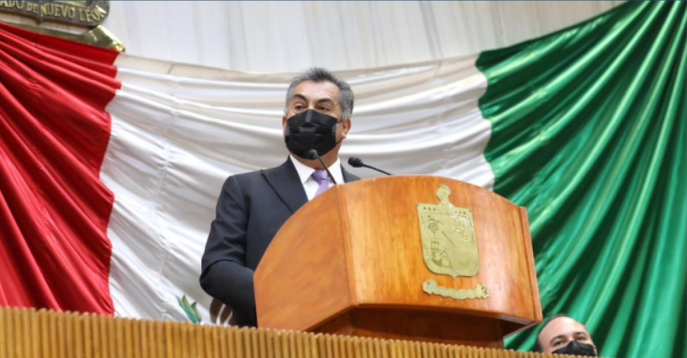 """En la entrega del sexto y último informe de gobierno, Jaime Rodríguez """"El Bronco"""" destacó la independencia de su gobierno en la pandemia"""