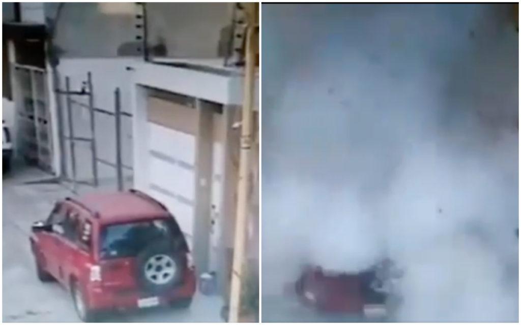 Otro atentado con explosivo: estalla caja en fraccionamiento Real de Guadalupe, Puebla (VIDEO)