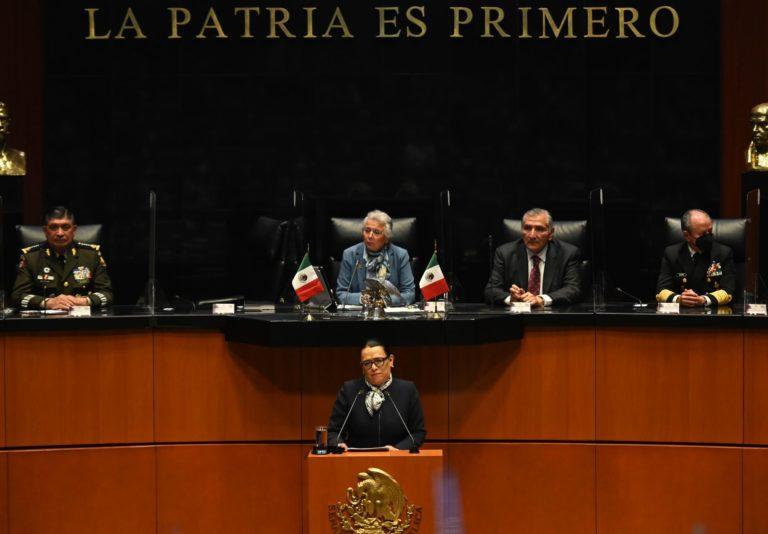 Rosa Icela Rodríguez defiende estrategia de AMLO: '4T viene a ganar la paz, no una guerra'
