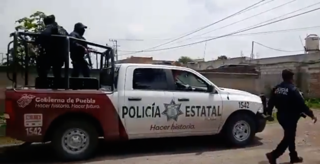 Tlaltenango, Puebla: balacera deja un muerto, cuatro detenidos y un agente herido (VIDEO)