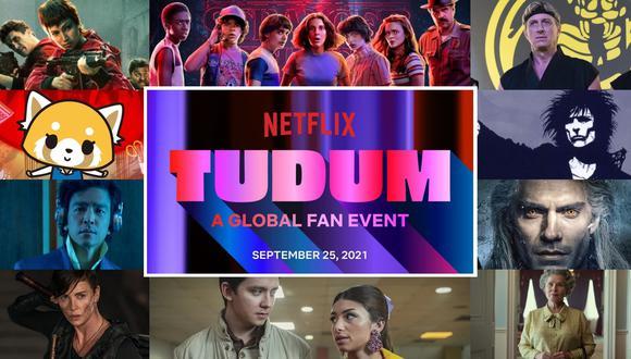 Netflix cautivó a sus seguidores con Tudum, un evento lleno de sorpresas y revelaciones, en el que pudimos disfrutar de grandes adelantos, escenas especiales, grandes invitados, tráilers y revelaciones de lo que nos espera durante los próximos meses en la plataforma de streaming. Aquí te compartimos algunas de las noticias más sorprendentes que Netflix nos dio en el evento, así como todo lo que sabemos de los próximos lanzamientos de nuestras series favoritas, como Stranger Things, The Crown, Bridgerton, Umbrella Academy, Cobra Kai y mucho más. 'Stranger Things 4' Después de una larga espera a causa del COVID-19, la cuarta temporada de Stranger Things está por llegar, pues Netflix adelantó su estreno para el 2022, aunque aún no sabemos la fecha exacta. 'La Casa de Papel 5' (Volumen 2) Un nuevo avance del volumen dos de la temporada 5 de La casa de papel nos revela un poco de lo que le espera a la banda de ladrones más querida y popular de España. Será el próximo 3 de diciembre cuando podremos disfrutar del final de esta historia y ver si el plan del Profesor funciona o no. 'Oscuro Deseo' Temporada final Una escena especial nos adelantó un poco de lo que les espera a Darío y Alma en esta segunda temporada de Oscuro deseo, la cual estará llena de dinero, un imperio textil y la revancha amorosa. La podremos disfrutar en Netflix en 2022. 'Bridgerton 2' La nueva temporada de la exitosa Bridgerton nos contará la historia del vizconde, quien se enfrentará al disruptivo carácter de Kate Sharma y ya pudimos disfrutar del primer avance de la serie que llegará en 2022. 'Sandman' Las primeras imágenes de la nueva producción de Netflix cautivaron a propios y extraños, pues el cómic escrito por Neil Gaiman escribiera 30 años atrás saltará a la pantalla chica, y aunque no se reveló la fecha de estreno, los fans esperan que sea para 2022 después de ver las asombrosas imágenes. 'Cobra Kai 4' La saga de Karate Kid, Kobra Kai, anunció la fecha de estreno de la muy esperada cuarta temp