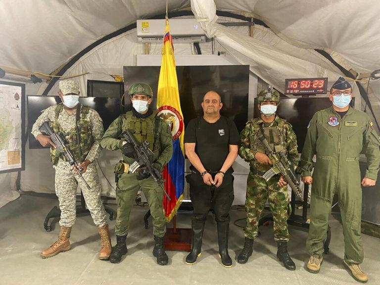 Autoridades colombianas capturan a líder del Clan del Golfo, el narco más buscado en ese país