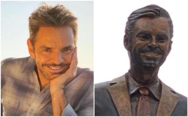 Develan estatua en honor a Eugenio Derbez en Acapulco y desata críticas en redes sociales