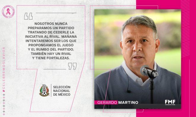Gerardo Martino ofreció una conferencia de prensa.