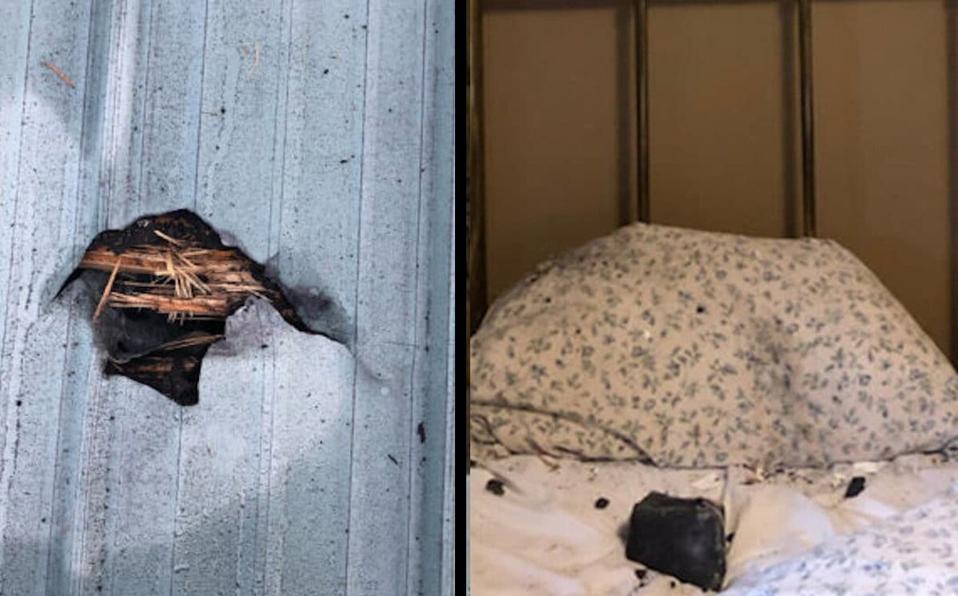 Meteorito impacta a unos centímetros de la cabeza de una mujer que dormía en su cama