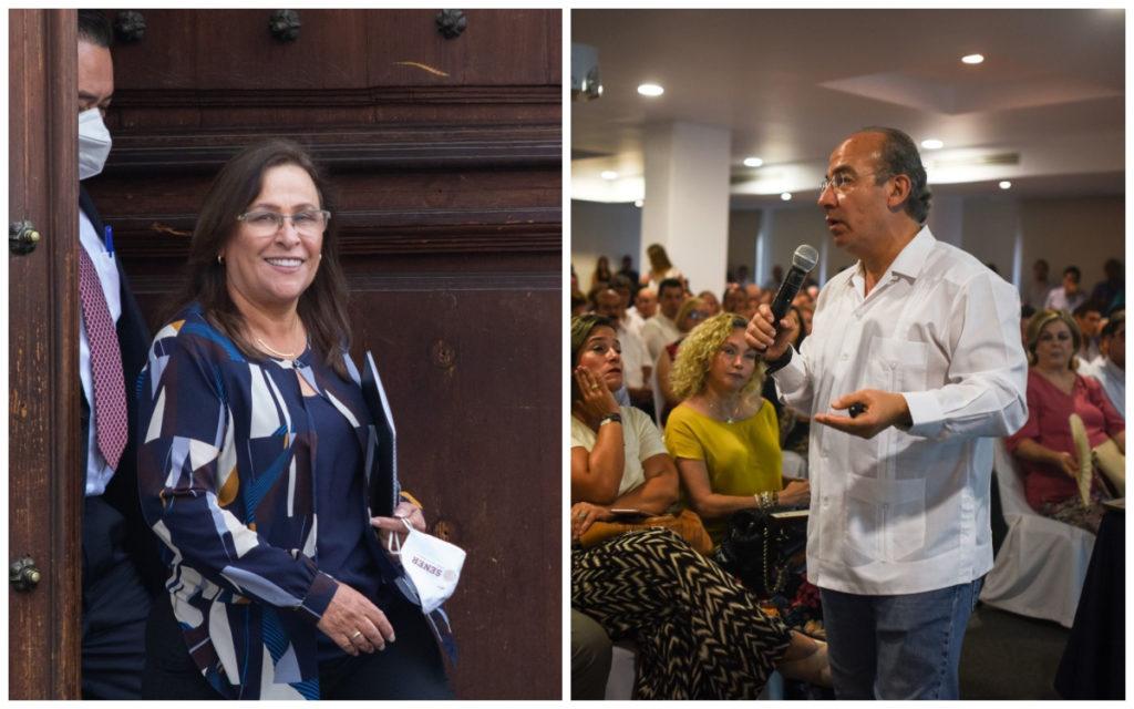 Calderón condena represión en Dos Bocas; Nahle le recuerda la refinería 'invisible' de Tula